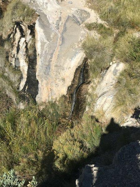 Waterfall near the top