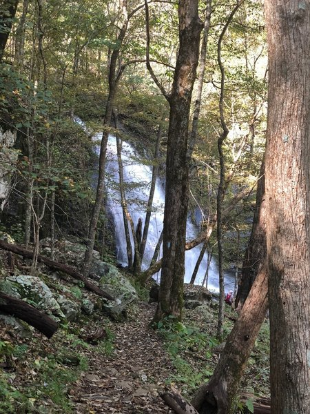 One of many stunning waterfalls.
