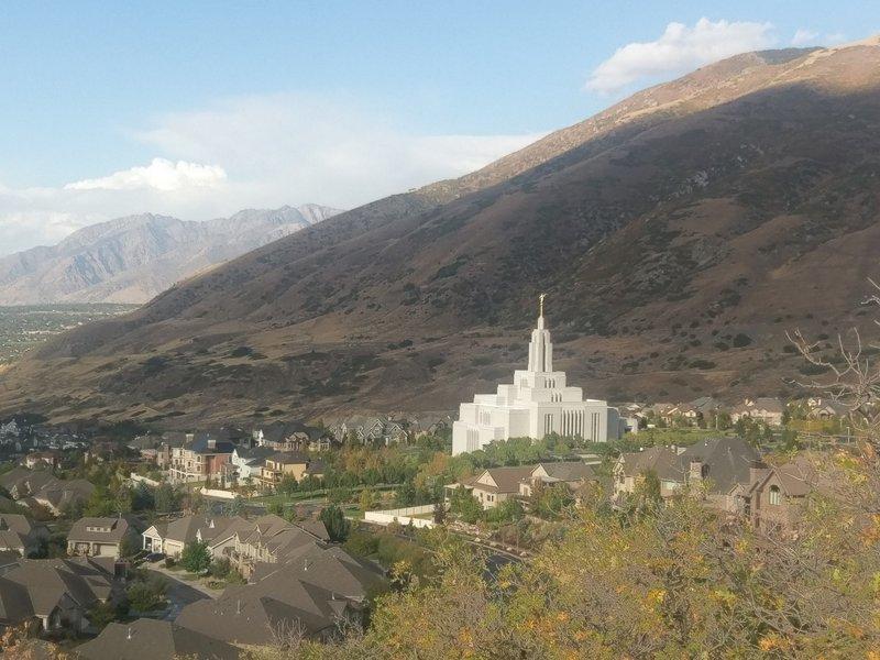 Up close views of the Draper Mormon church
