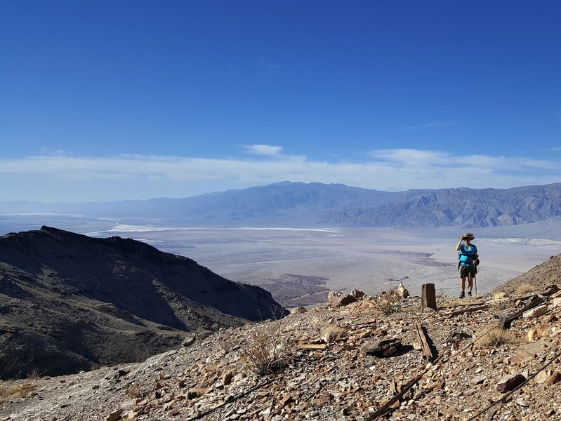 The view of Death Valley from the old mine high in the Funeral Range.