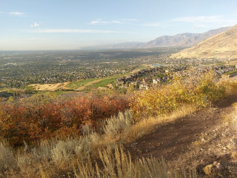 Looking over Draper from Red Potato Hill Trail.