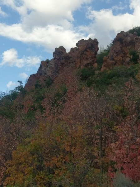 Red Rock climbing crags.