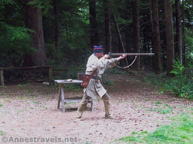 Musket demonstration at Fort Clatsop