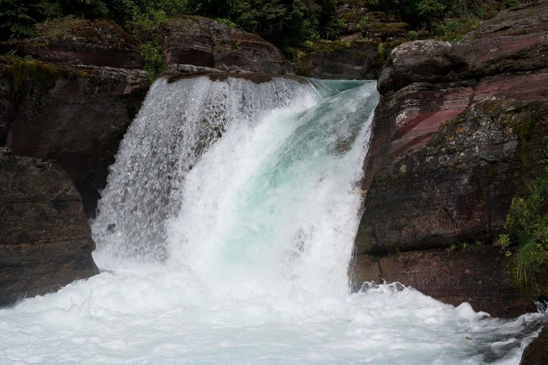 Deadwood Falls sits just off the trail.  It's a great place to take a break and enjoy a snack before continuing your adventure.