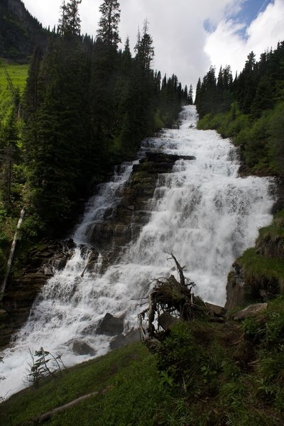 Florence Falls roars in the spring as the snow melts on the mountains and in the valleys above.