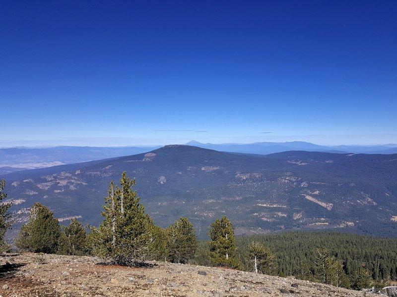 Mount McLoughlin (far horizon) from Goosenest's summit