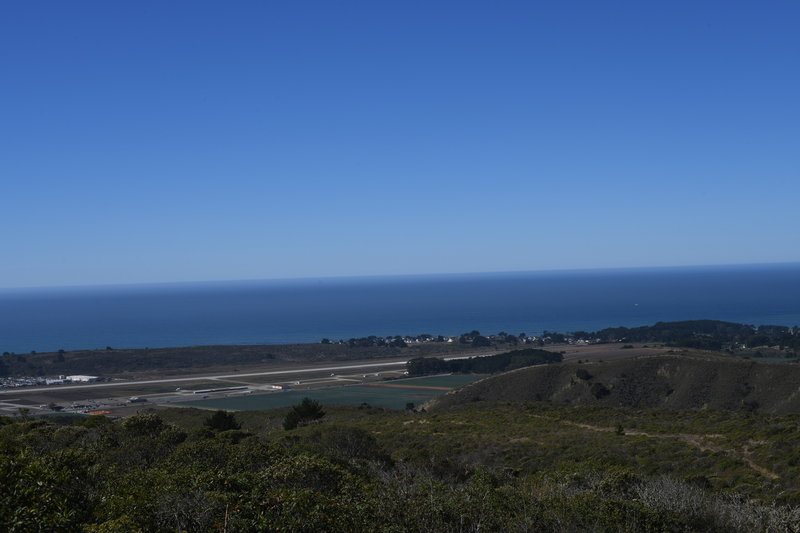 You can see the farms of Half Moon Bay and Moss Beach below you. Oh yeah, and the Pacific Ocean stretches out for as far as the eye can see.