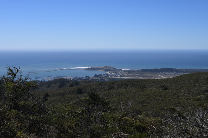 You can see Mavericks, Pillar Point, the Half Moon Bay Airport and the Marina from the boundary of the preserve.