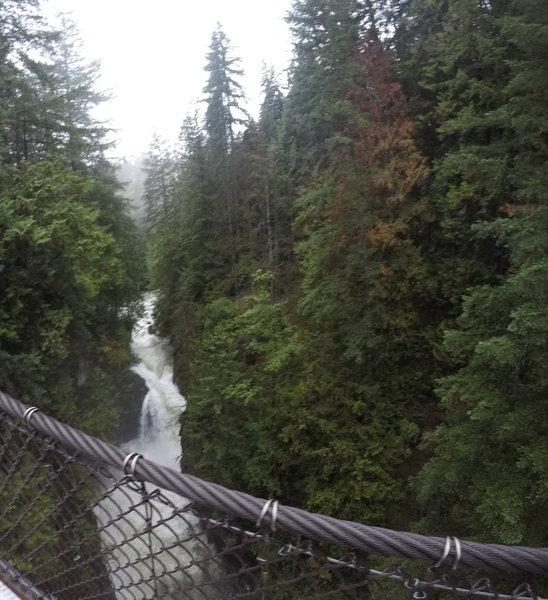 The falls at the bridge.
