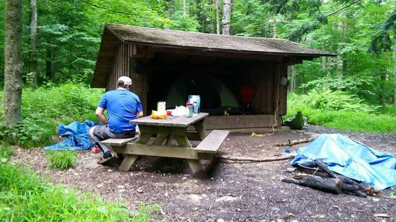 Lean-To along the trail