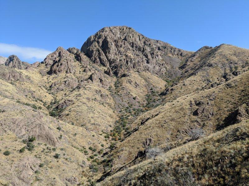 Soledad Canyon looking up