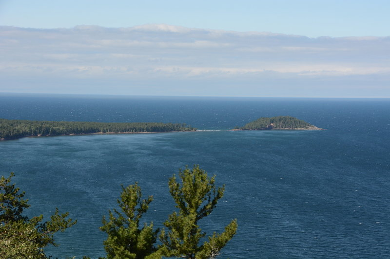 Little Presque Isle from the summit of Sugarloaf.