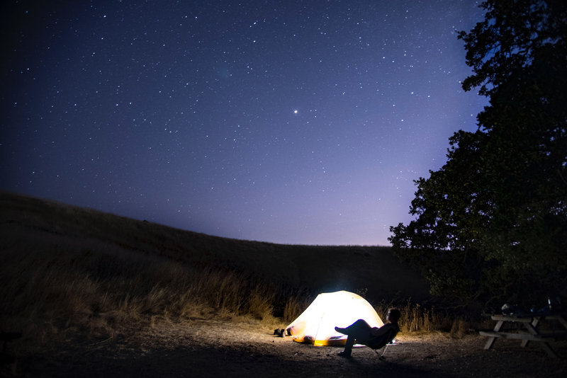 Relaxing on a clear night sky at Eagle's Aerie site