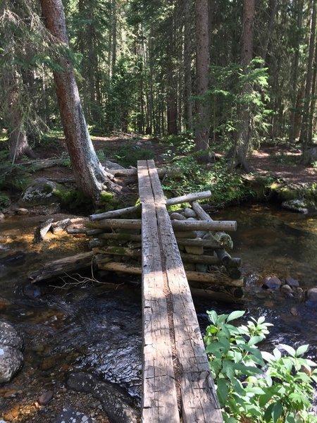 Bridge crossing along Roaring Fork Creek