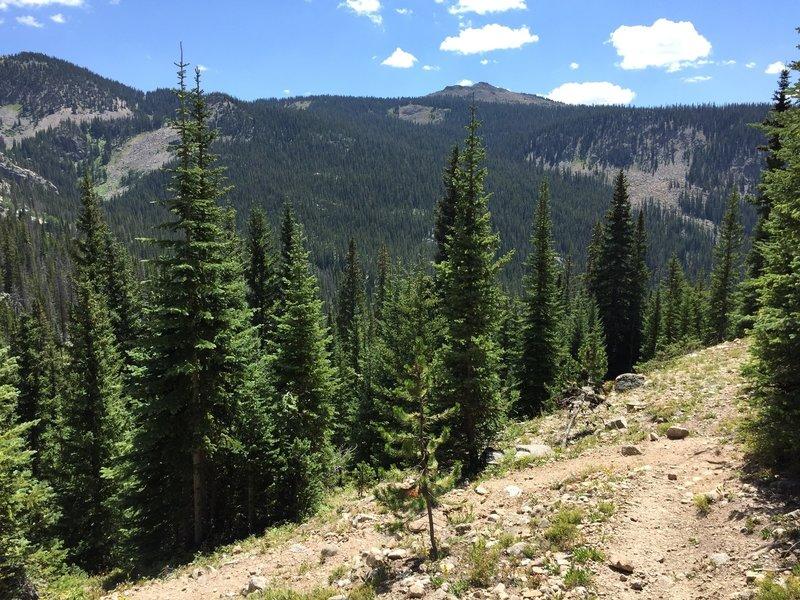 Views south toward Mt. Irving Hale