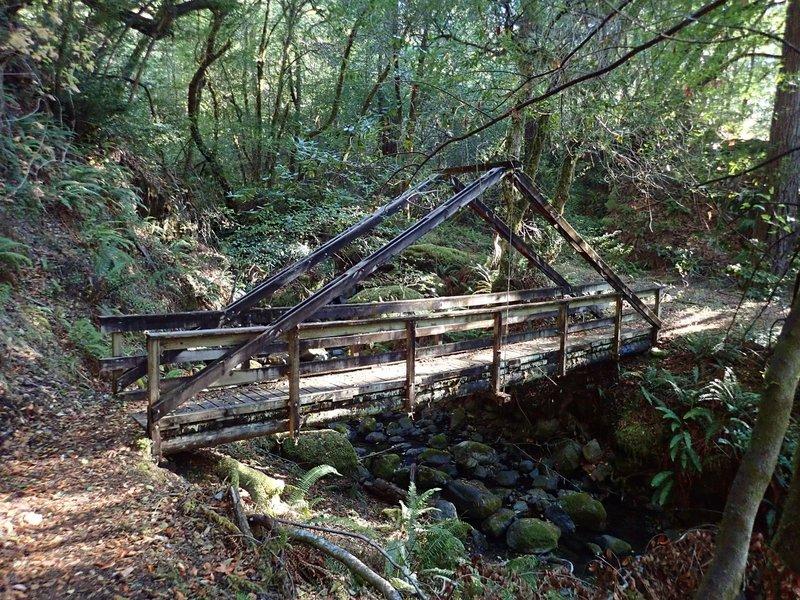The classic bridge across Morris Rodgers Creek