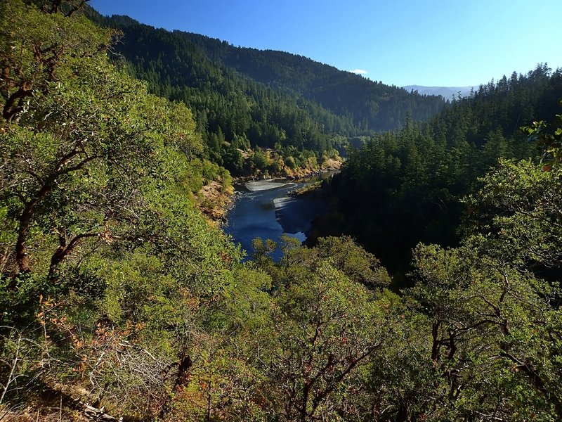 Looking east (upriver) from the trail's high point