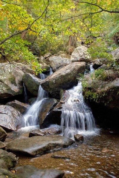 Several small falls along the hike to High Shoals Falls