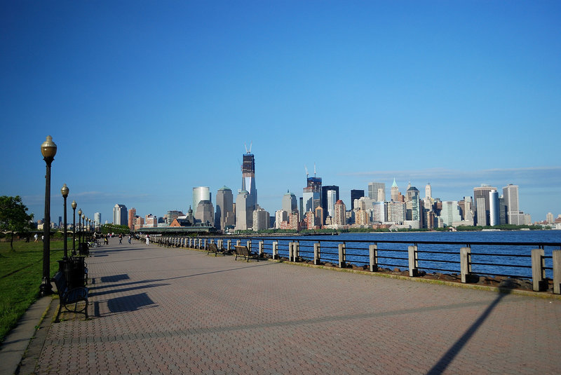 A view of downtown Manhattan from Liberty State Park.
