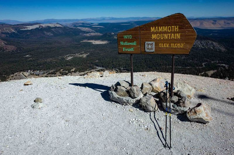 The summit of Mammoth Mountain (11,053 ft).