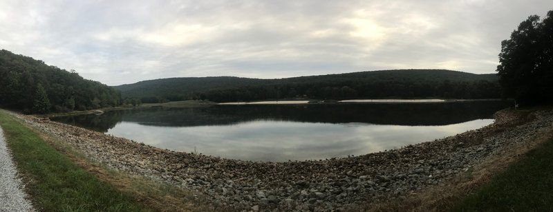 Pano of Greenbrier Lake on Big Red Trail