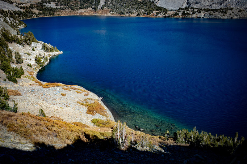 The crystal clear blue Duck Lake.