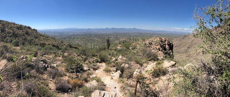 Looking back towards Tucson.