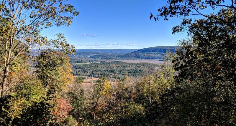 A autumn view of Canaan Mountain viewed from Prospect Mountain on the AT in northwest Connecticut