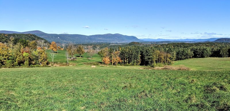 A 2.7 mile hike through a thick forest landscape ends with this amazing expanse - Rands View, with Wetauwanchu Mountain on the left, and Bear Mountain and Mount Everett in Massachusetts on the horizon.