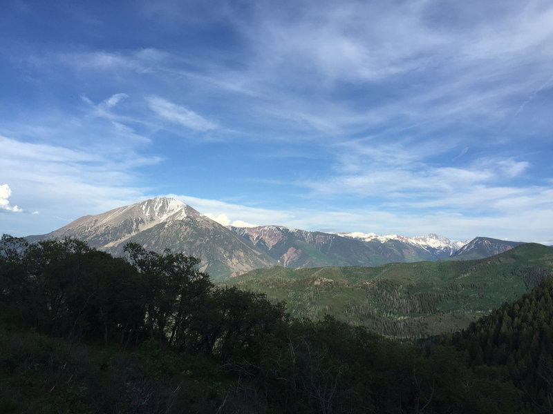 View of Mt. Sopris from the climb.