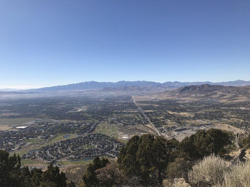 Halfway, looking west over Salt Lake valley.