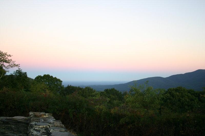 Sunrise at Cohutta Overlook