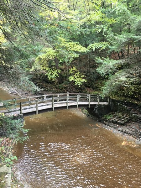 Bridge that connects the Rim Trail to the Gorge Trail
