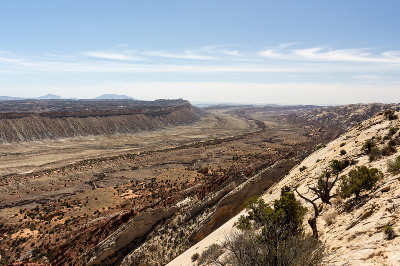 Looking down the Oyster Shell Reef from Strike Valley Overlook
