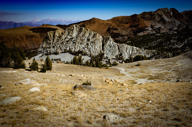 Crystal Crag viewed from the Mammoth Crest Trail.