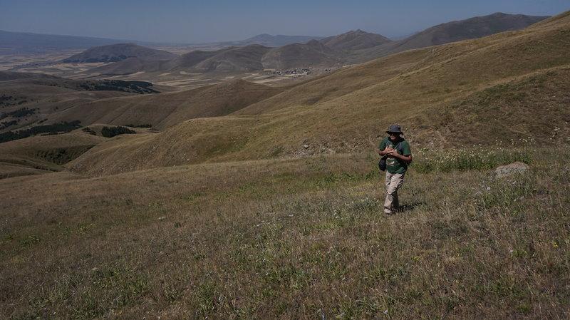 An inspired hiker