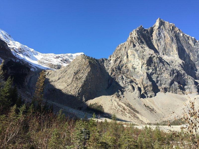 Glacier at the top of Emerald Basin.