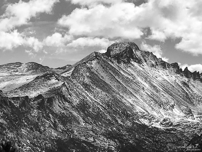 October 25, 2018 - Views of Long's Peak from the Flattop Mountain Trail.