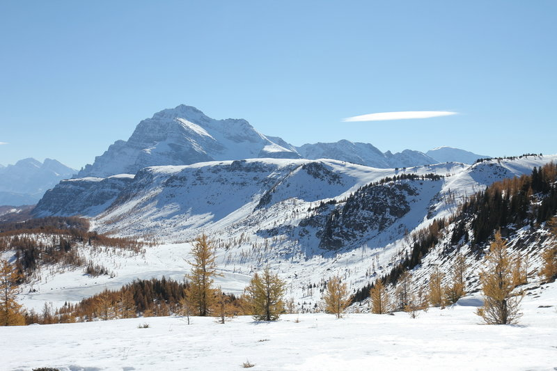 """Views of """"The Monarch"""" Mountain along the Healy Pass Trail."""