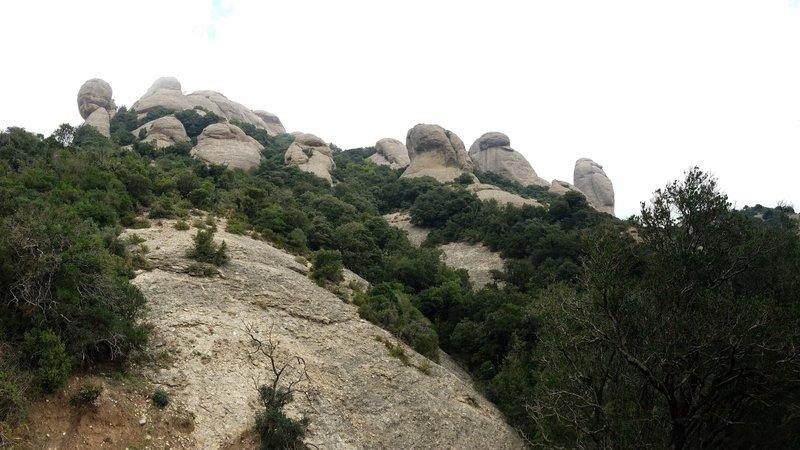 Mountain views alongside the trail