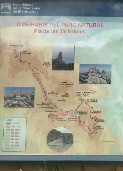 Another trail map for the Montserrat area.