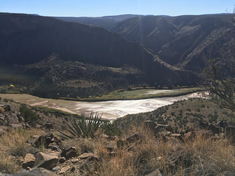 First sighting of the Rio Grande from the Burro Trail.
