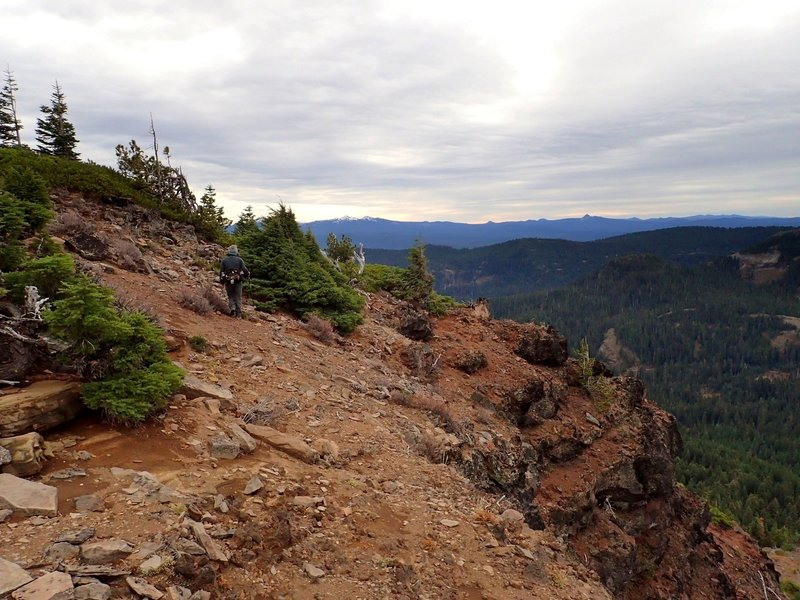 The Crater Lake Rim from the summit of Rattlesnake Mountain.