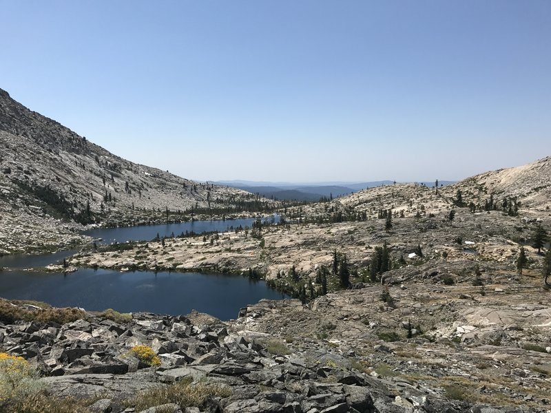 Cliff above twin lakes facing west. Amazing views in this area