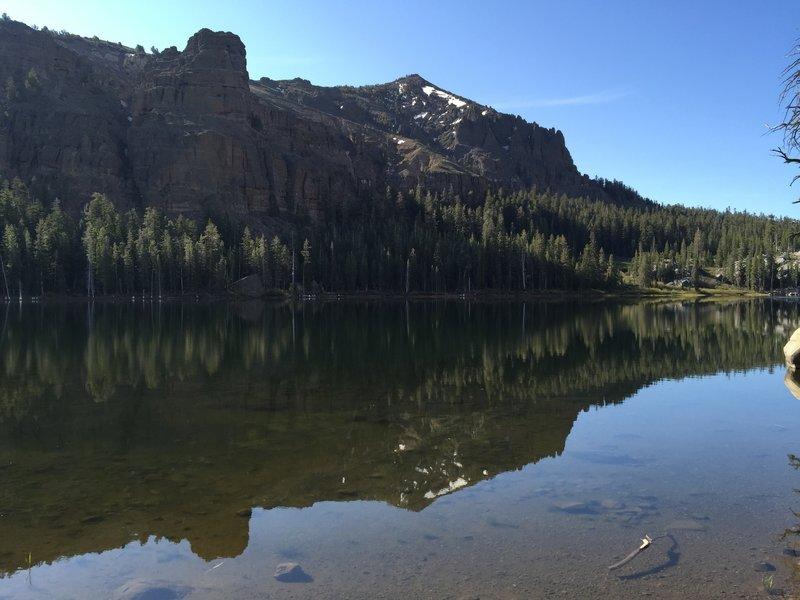 Morning view of round lake