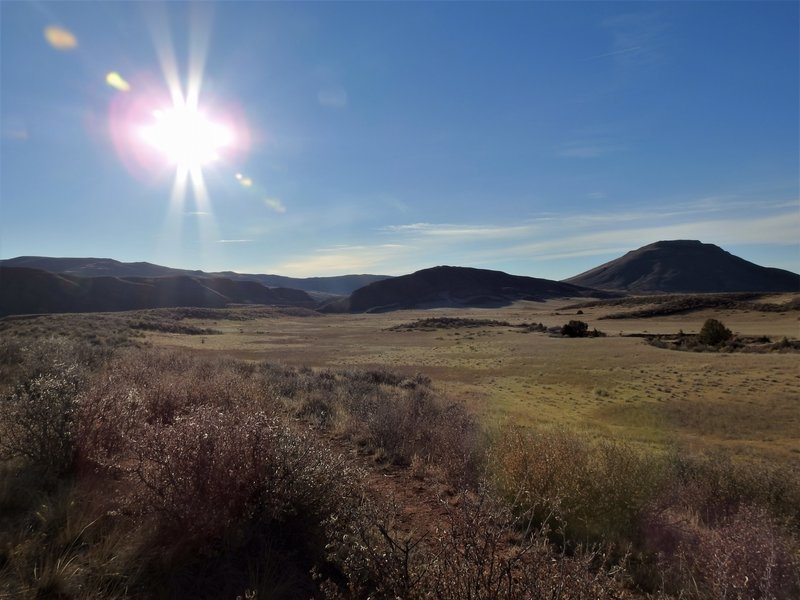 Rising Sun over Red Mountain Open Space