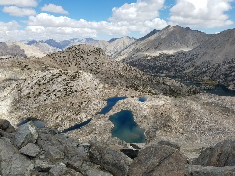 Top of Glen Pass, looking north/east towards the Rae Lakes.
