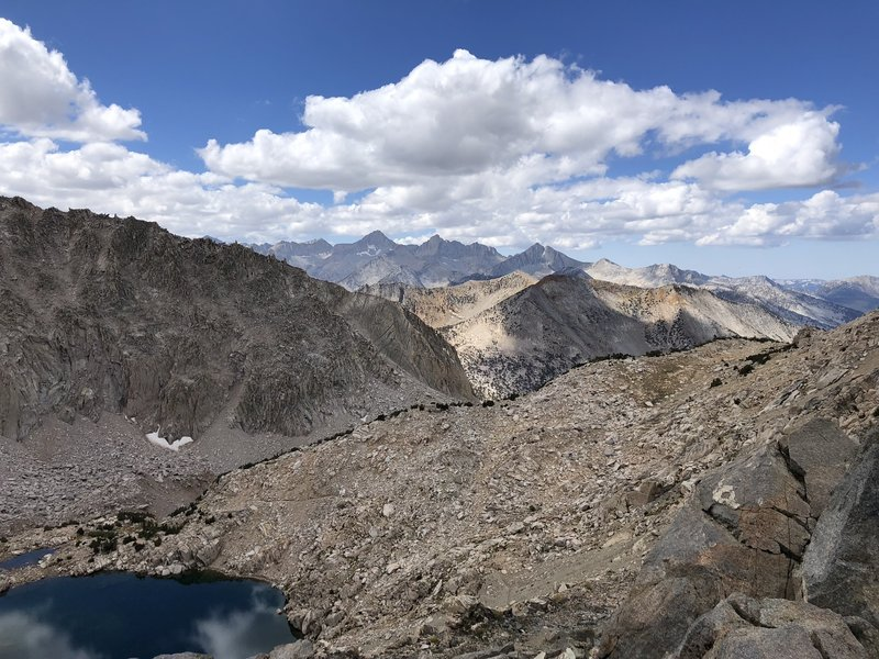Top of Glen Pass, looking south over the High Sierra's. Absolutely stunning views from here.