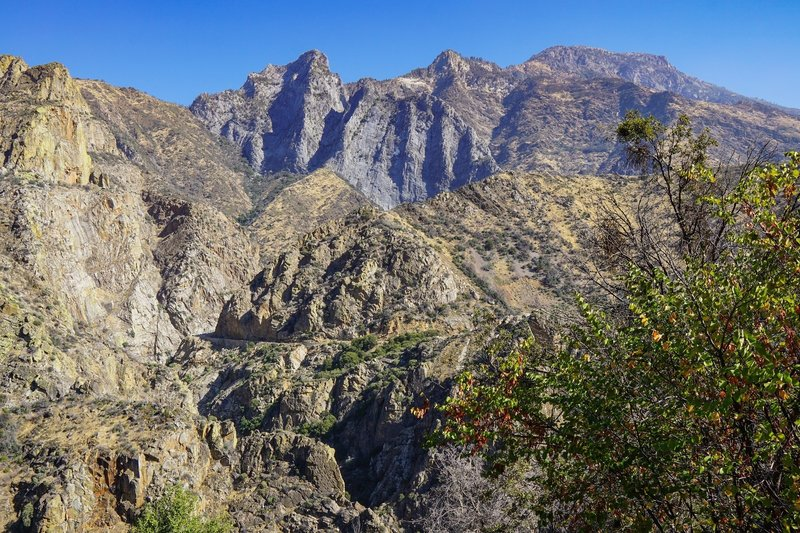 The highway to Road's End winds through the rocky King's Canyon.