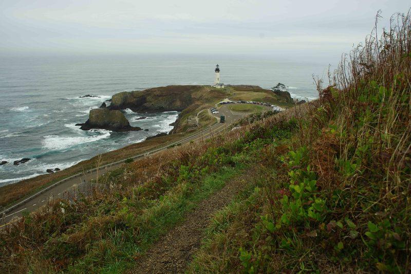 West toward lighthouse.